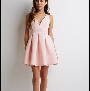 NWT Forever 21 Pink Pleated Mini-Dress